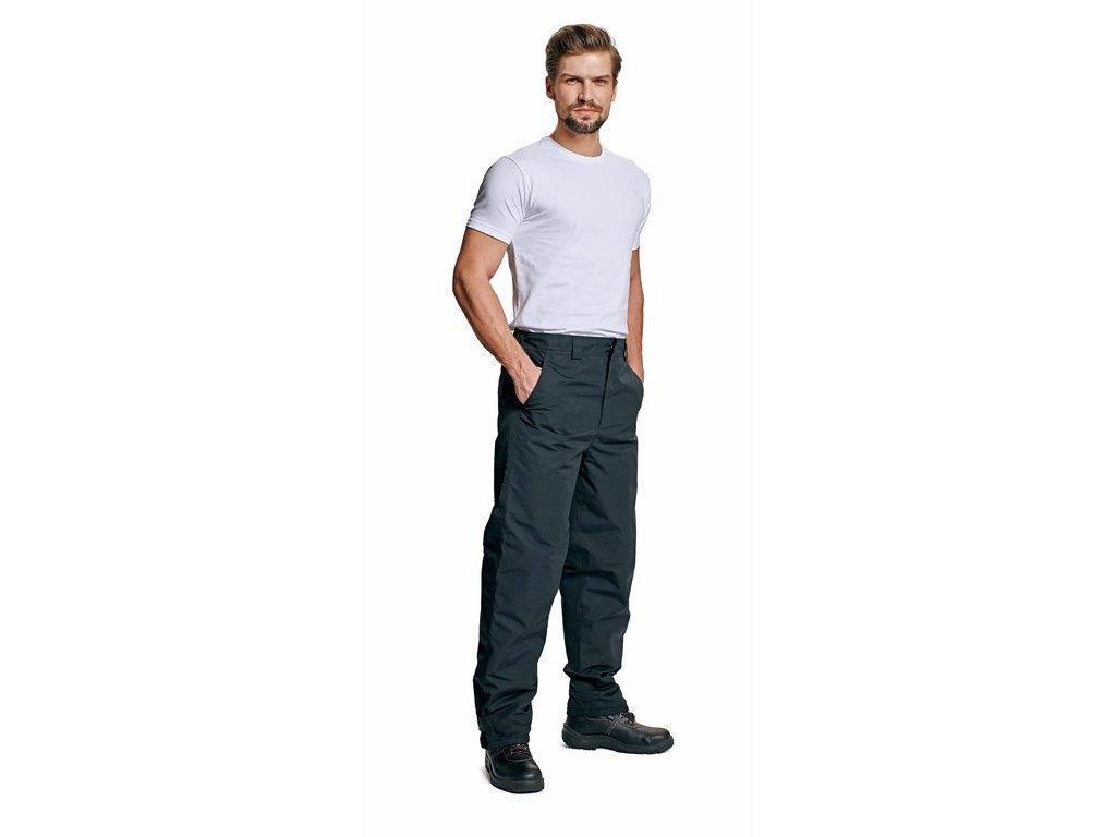 RODD zateplené nepromokavé kalhoty do pasu černé (Velikost/varianta 3XL)