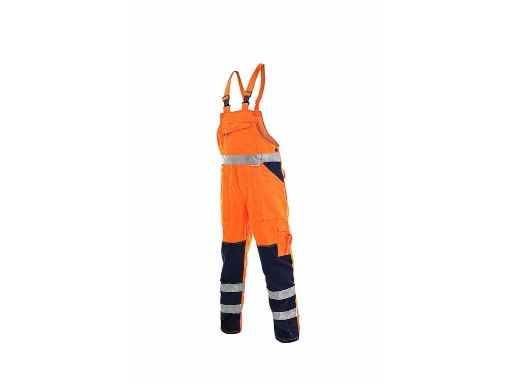 NORWICH výstr.kalhoty s náprsenkou oranž. -modré (Velikost/varianta 64)