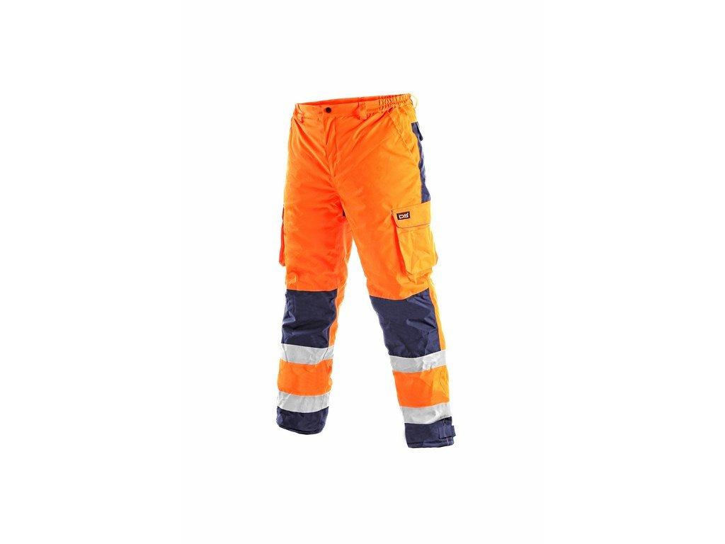 CARDIFF reflexní kalhoty do pasu zateplené oranž.-modré (Velikost/varianta 3XL)