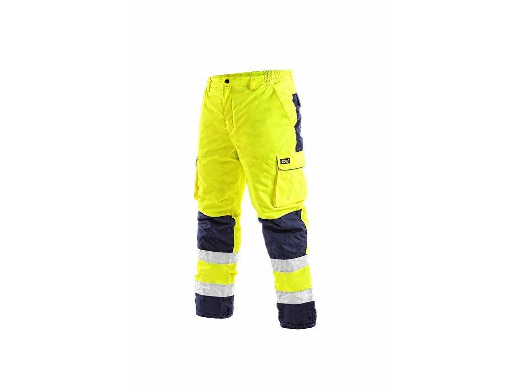 CARDIFF reflexní kalhoty do pasu zateplené žluto-modré (Velikost/varianta 3XL)