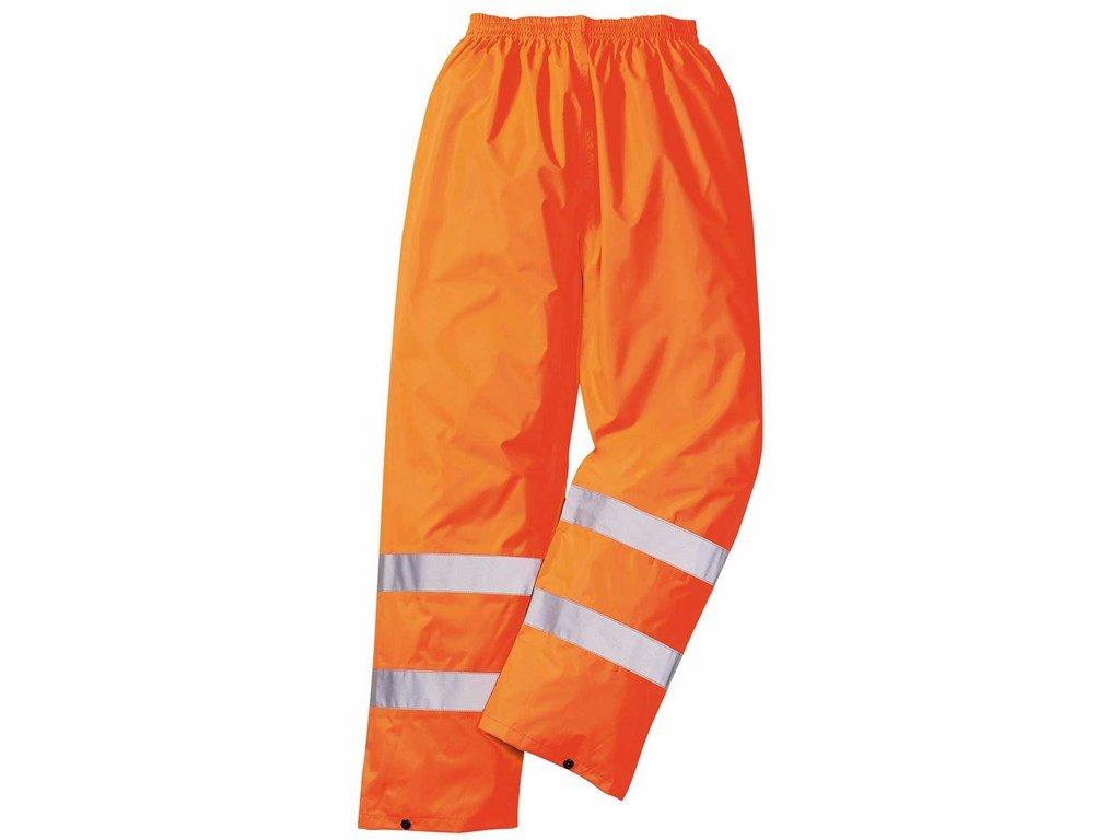 RT51 reflexní kalhoty v pase do gumy oranžové (Velikost/varianta 3XL)