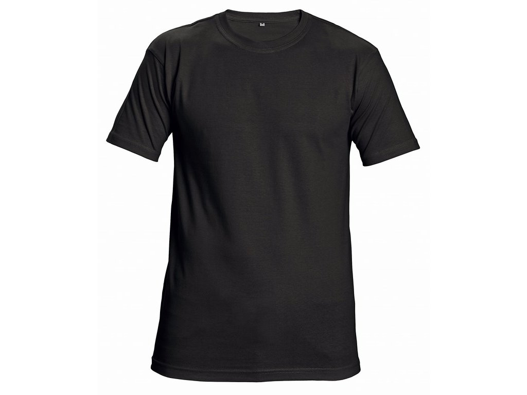 TEESTA unisex tričko černé (Velikost/varianta 4XL)
