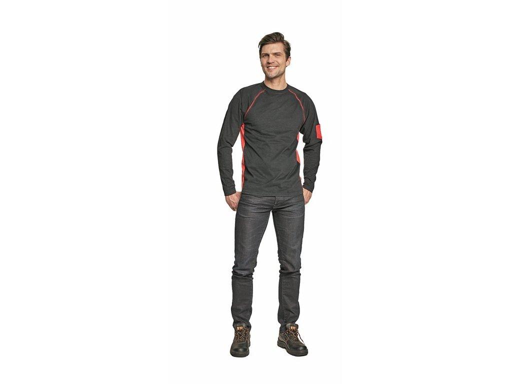 FAXE pánské tričko dlouhý rukáv černé (Velikost/varianta M)