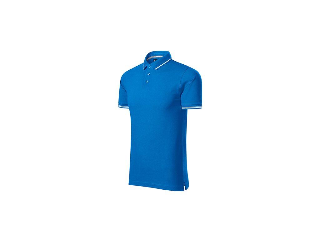 Perfection plain polokošile pánská snorkel blue