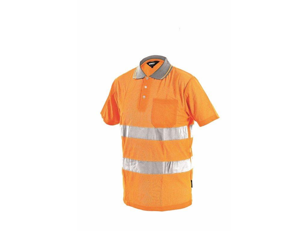 DOVER reflexní tričko s límečkem oranžové (Velikost/varianta 3XL)
