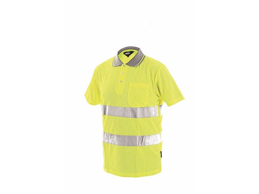 DOVER reflexní tričko s límečkem žluté (Velikost/varianta 3XL)