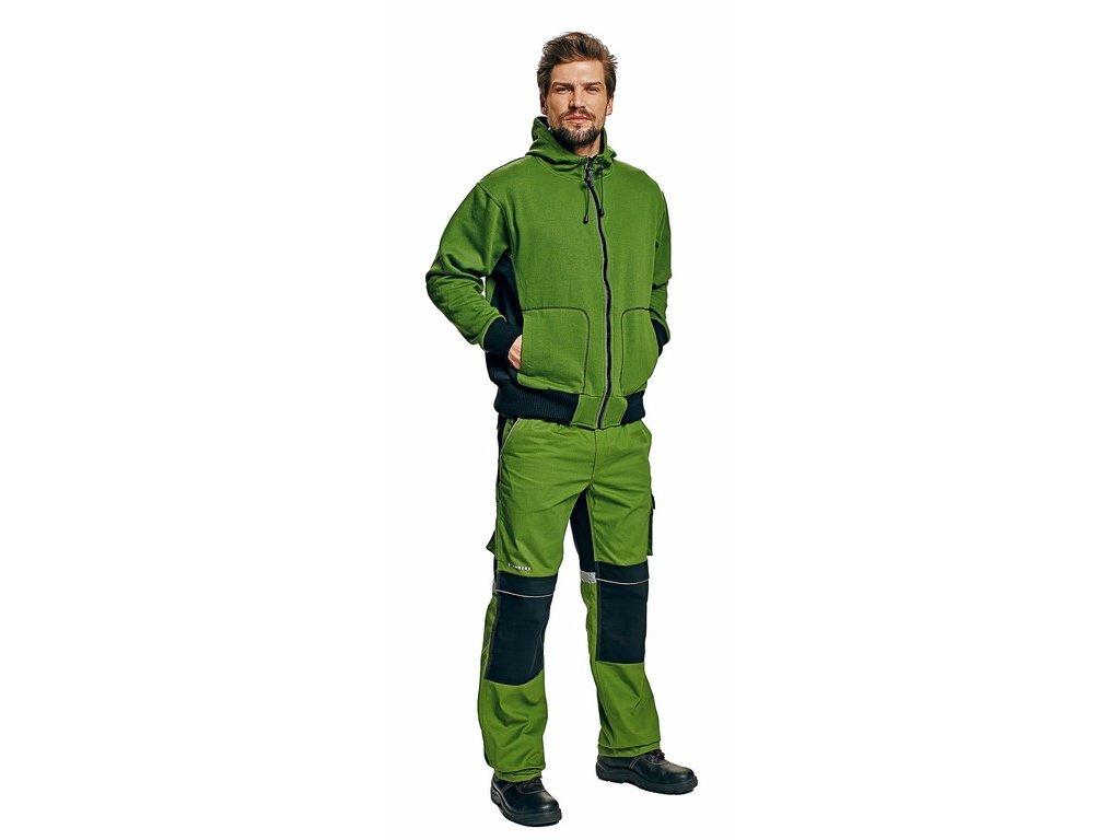 STANMORE mikina s kapucí zelená (Velikost/varianta 3XL)