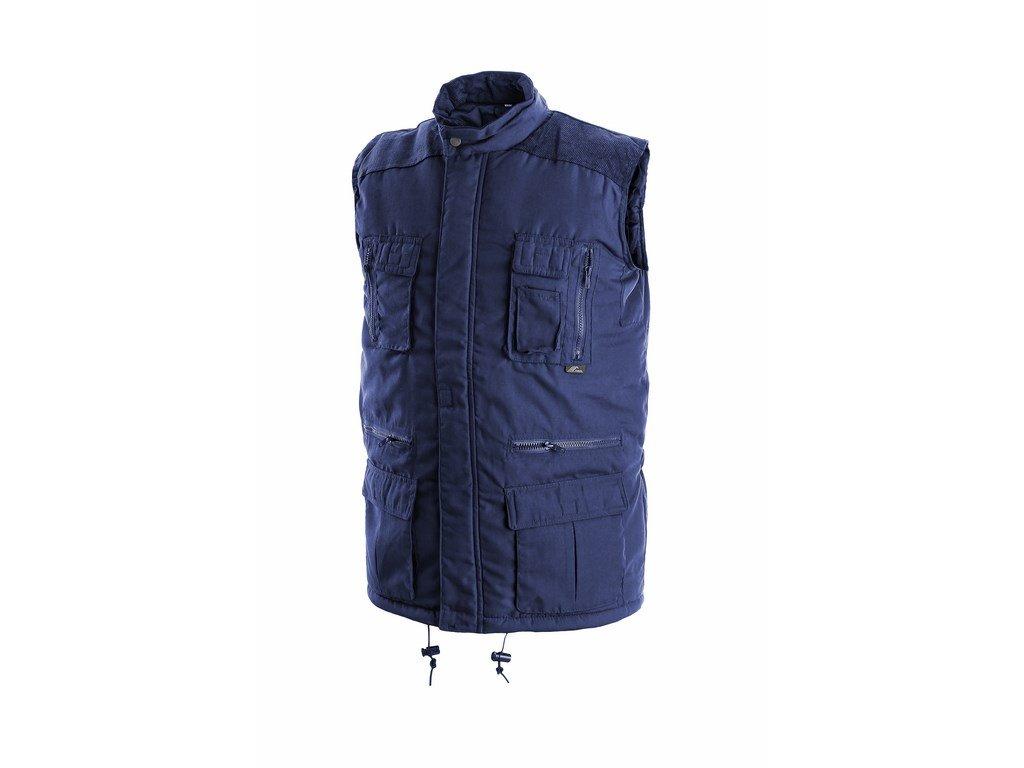 OHIO pánská zateplená vesta modrá (Velikost/varianta 3XL)