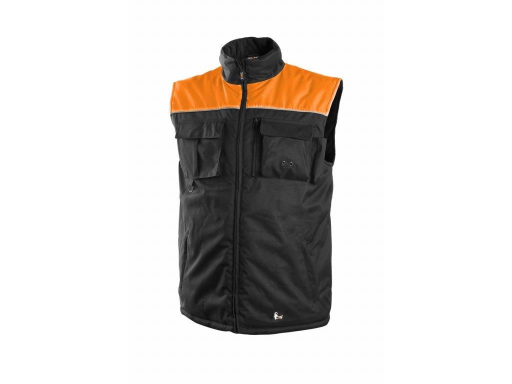 SEATTLE zateplená vesta černo-oranžová (Velikost/varianta 3XL)