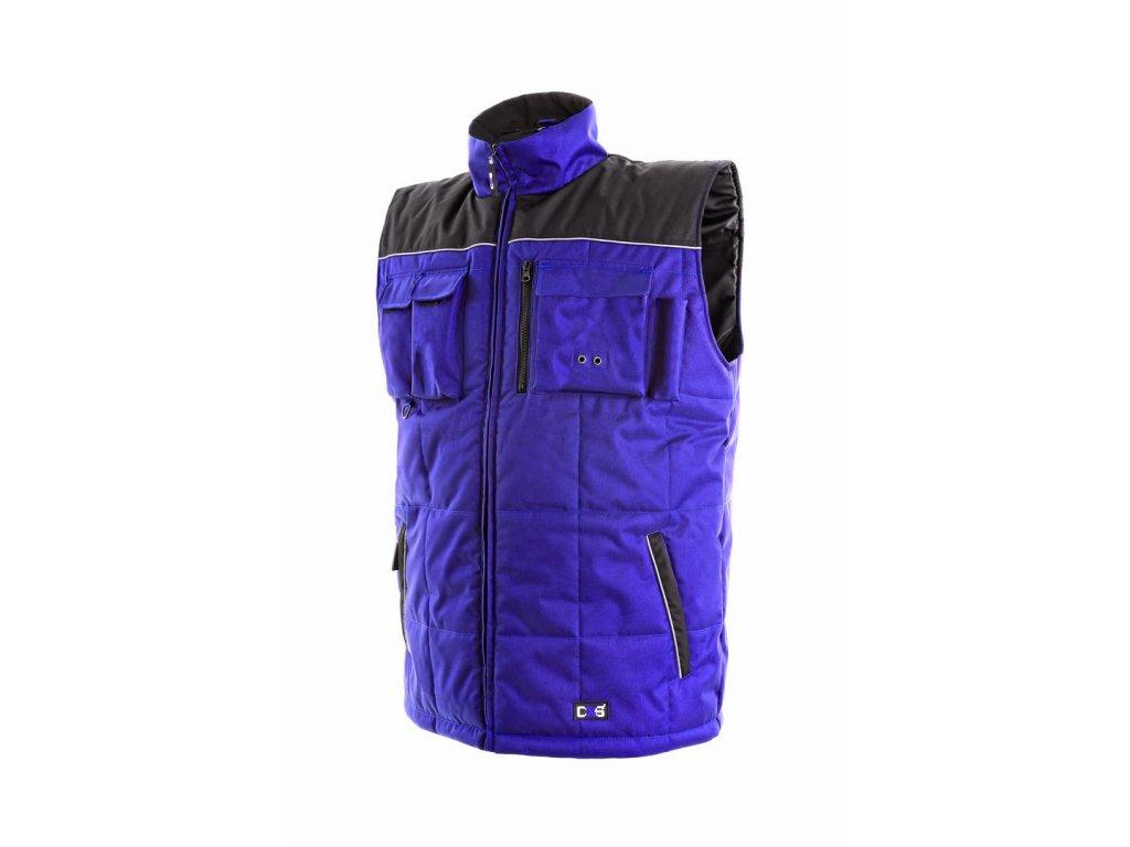 SEATTLE zateplená vesta modro-černá (Velikost/varianta 3XL)