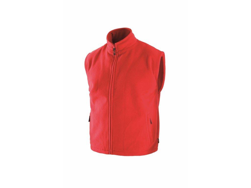 UTAH fleecová vesta na zip červená (Velikost/varianta 3XL)