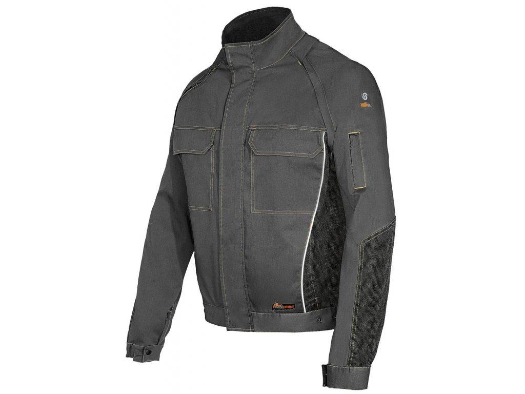 STRETCH EXTREME monterková bunda šedo-černá (Velikost/varianta 3XL)