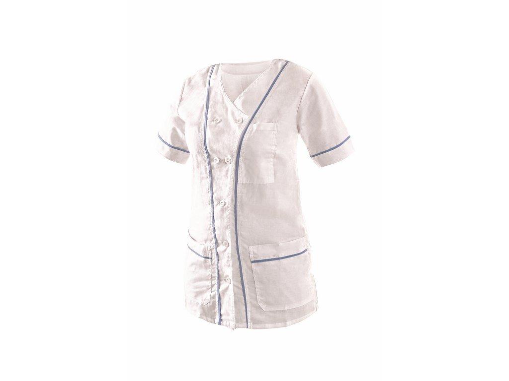 ANETA dámská halena krátký rukáv bílá (Velikost/varianta 64)