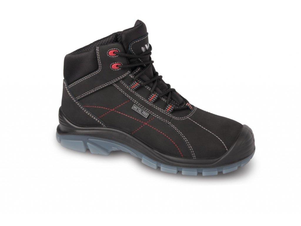 OXFORD S3 pracovní kotníková obuv Non Metalic černá (Velikost/varianta 48)
