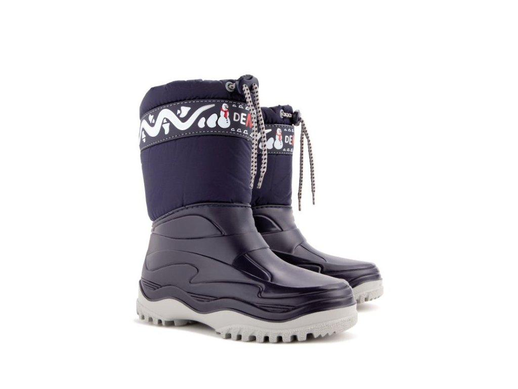 FROST dětské zimní boty  tmavě modré (Velikost/varianta 35)