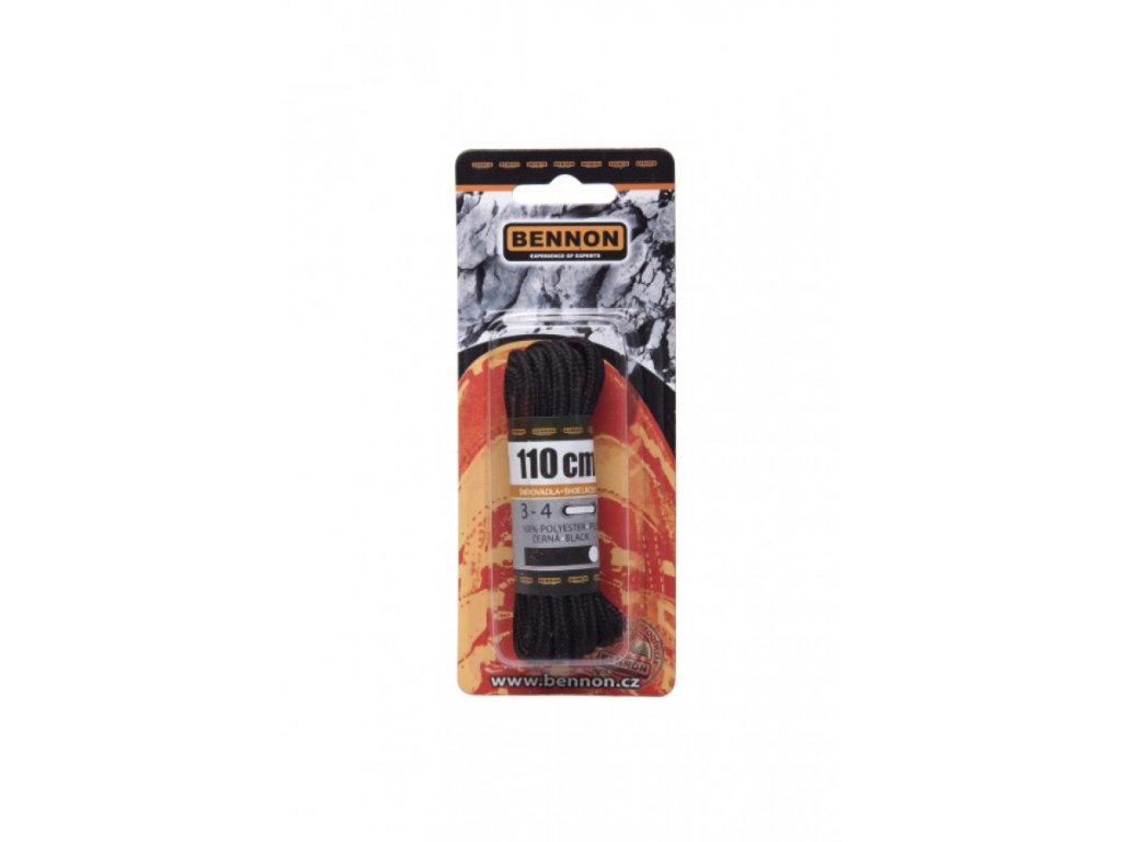 BENNON tkaničky Laces Black Box kulaté 90cm (Velikost/varianta 17)