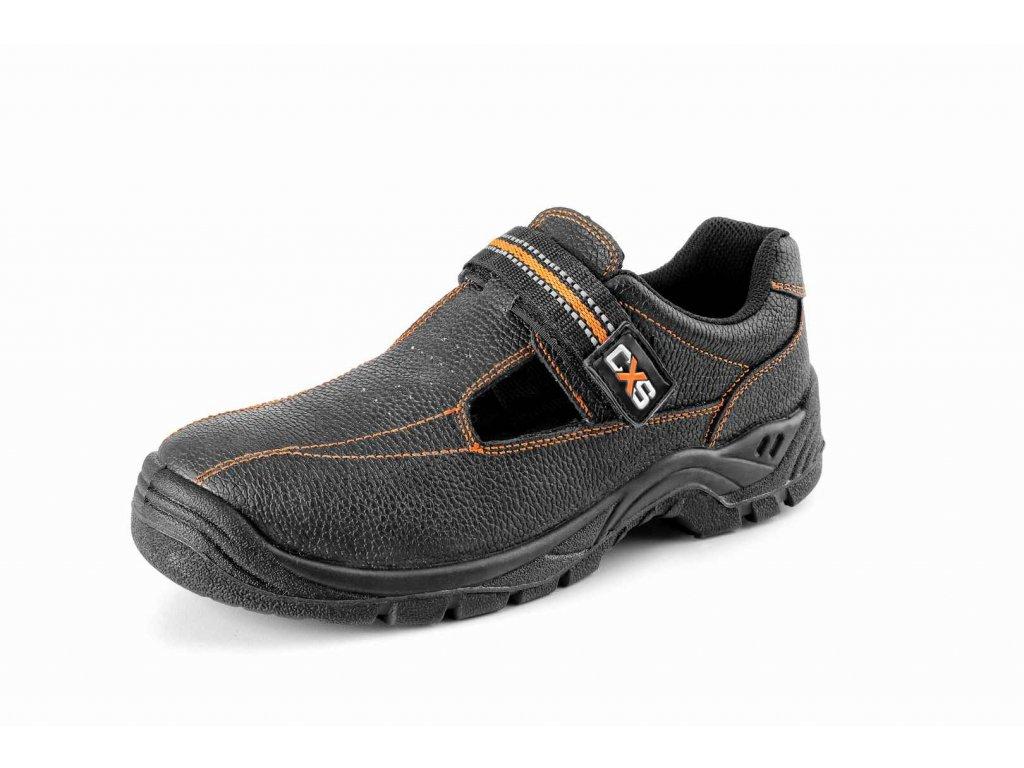 STONE NEFRIT O1 pracovní sandál celokožený černý (Velikost/varianta 50)