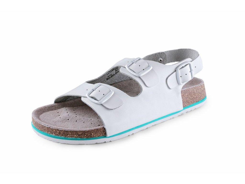 CORK MEGI sandál korkový dámský bílý (Velikost/varianta 41)