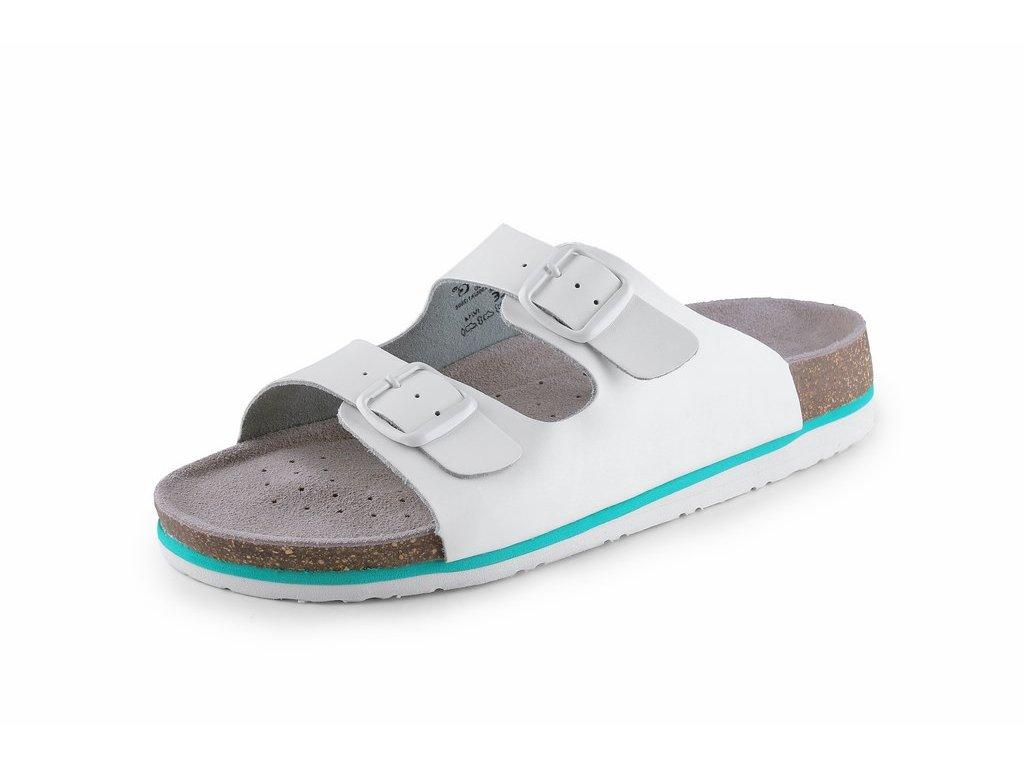CORK LISA sandál korkový dámský bílý (Velikost/varianta 41)
