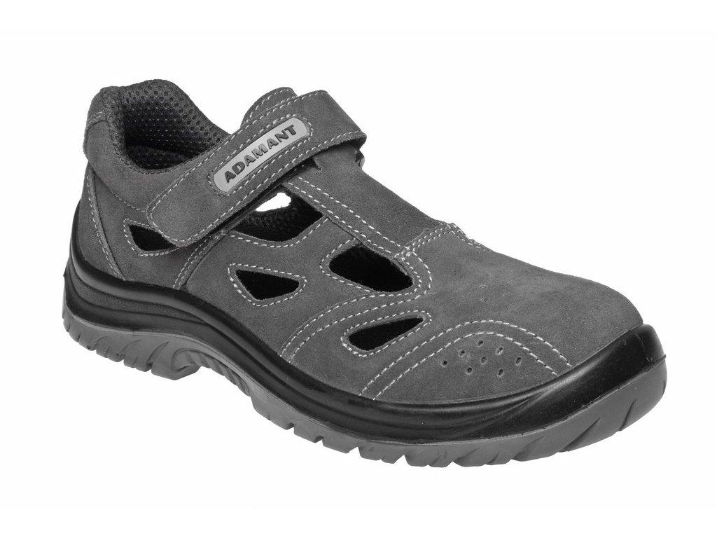 ADAMANT TAYLOR S1P pracovní sandál šedý (Velikost/varianta 50)