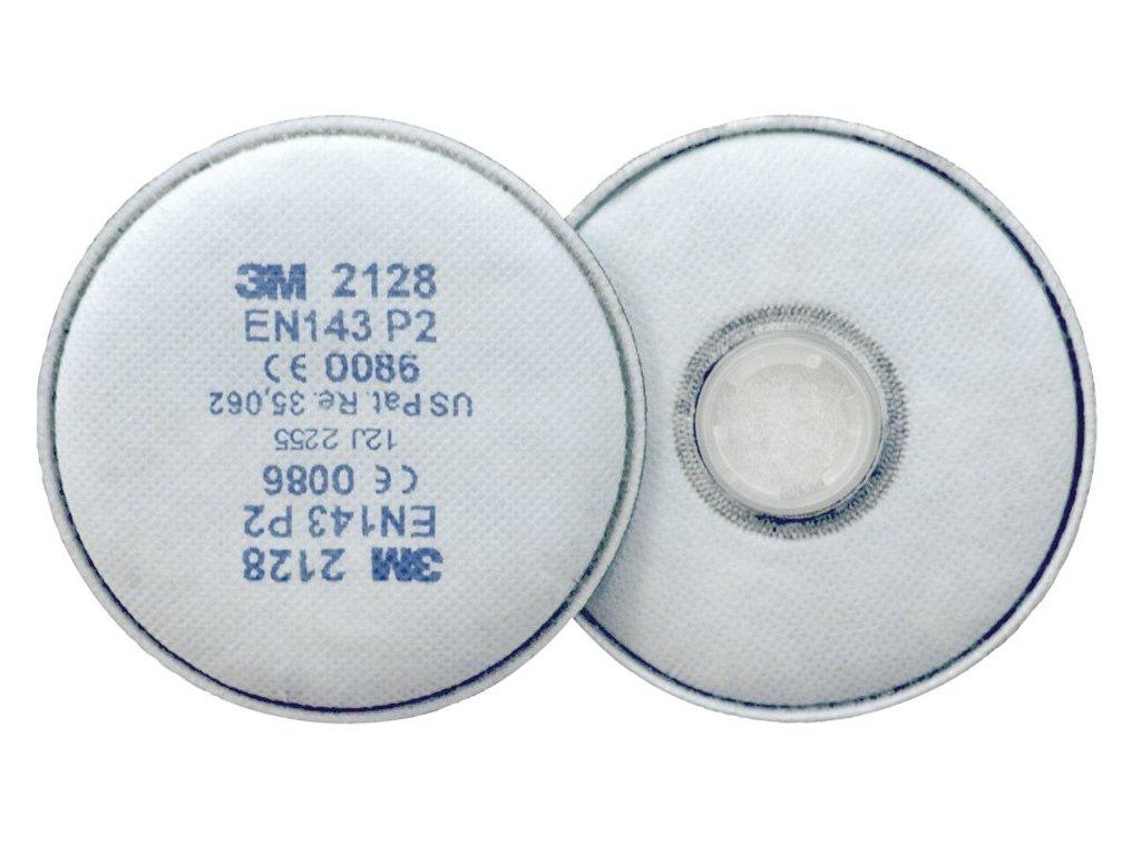 3M 2128 - P3 filtr proti částicím (1 ks) (Velikost/varianta UNI)