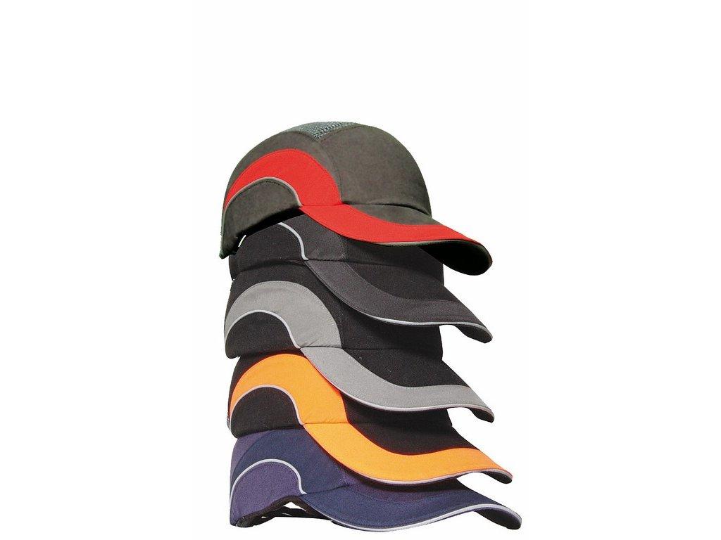 HARDCAP A1+ čepice s výztuhou kšilt 5cm černá-reflexní oranžová (Velikost/varianta UNI)