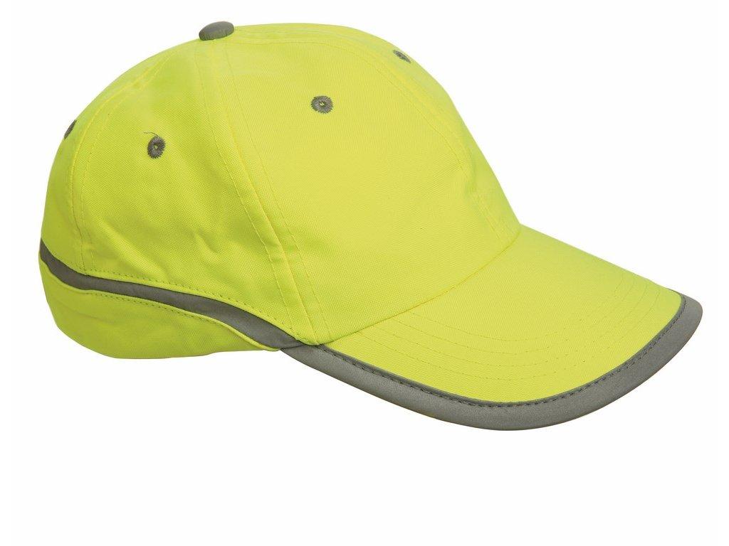 TAHR čepice s kšiltem reflexní žlutá (Velikost/varianta UNI)