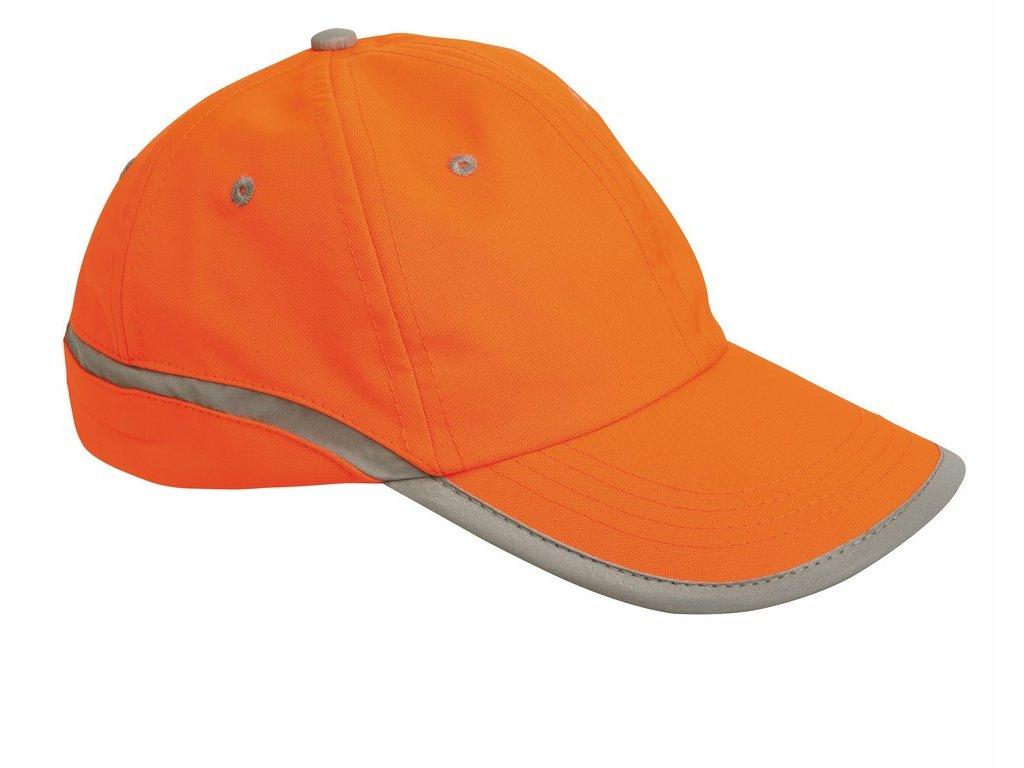 TAHR čepice s kšiltem reflexní oranžová (Velikost/varianta UNI)