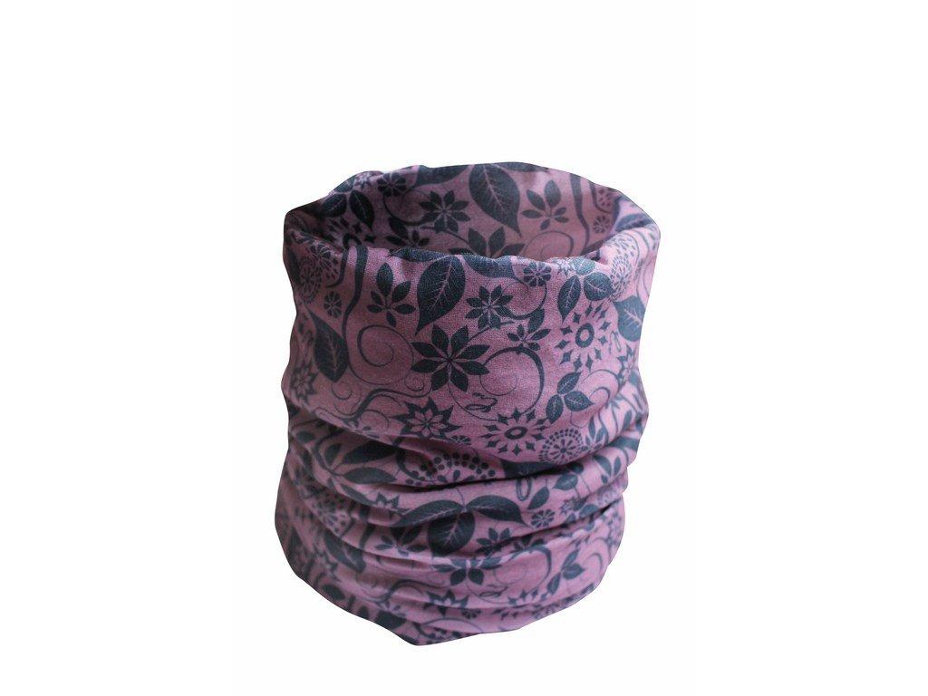 CLIFF multifunkční šátek fialový (Velikost/varianta UNI)