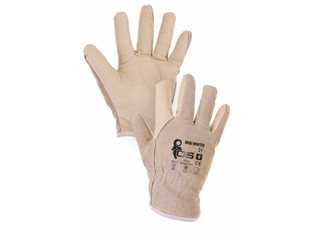 URBI WINTER rukavice zimní béžová (Velikost/varianta 11)