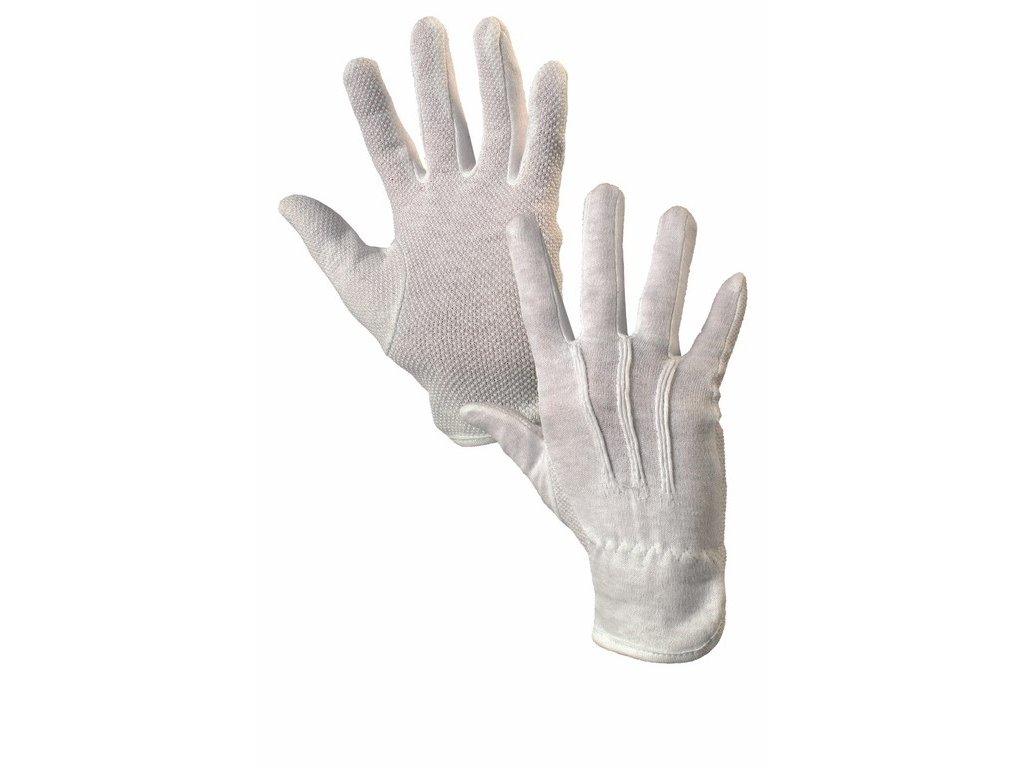 MAWA rukavice PVC terčíky bílá (Velikost/varianta 10)
