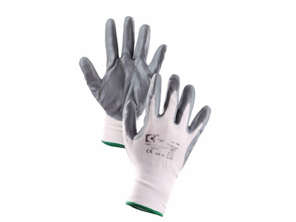 ABRAK rukavice polyester.úplet povrstvené nitril.pěnou šedé (Velikost/varianta 10)
