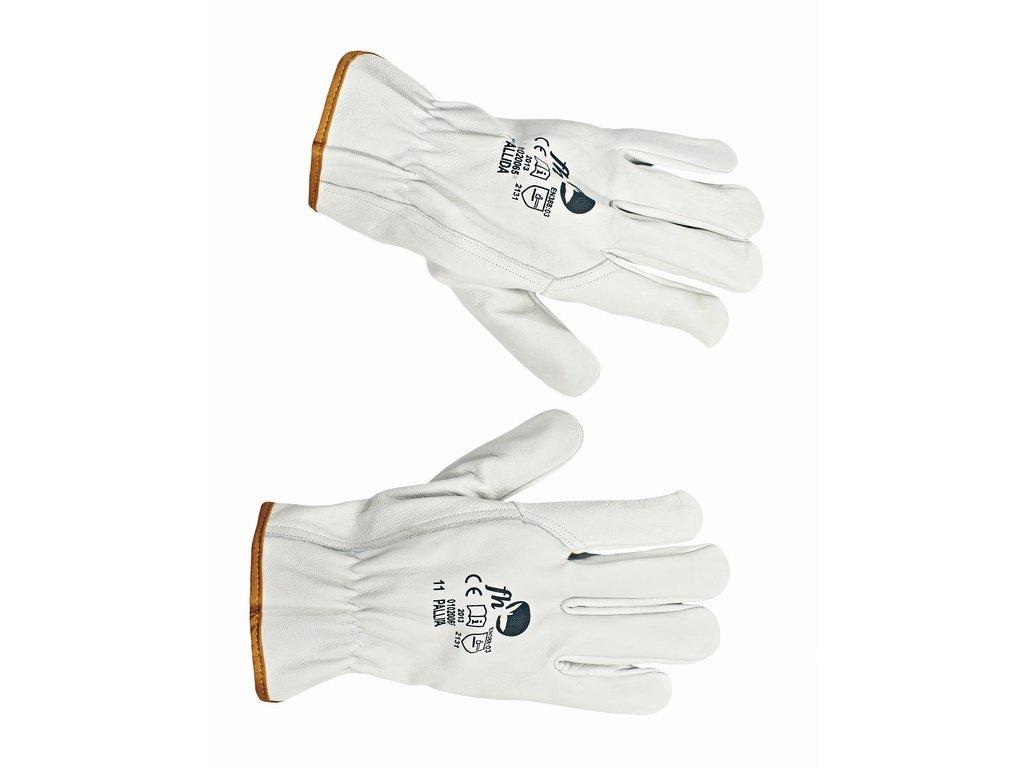 PALLIDA rukavice hovězí lícovka šedé (Velikost/varianta 10)