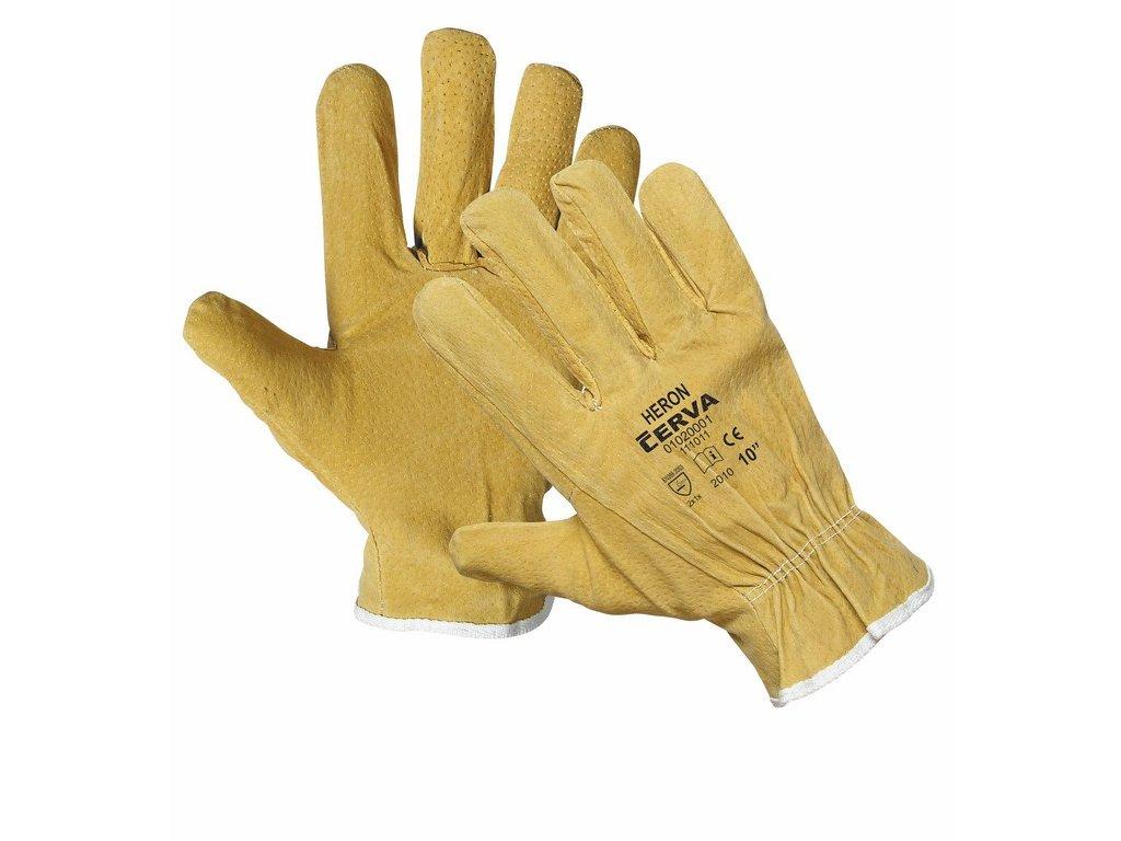 HERON rukavice z vepř štípenky v dlani střih driver (Velikost/varianta 11)