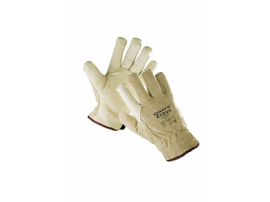 HERON WINTER rukavice z vepř. štípenky v dlani střih driver (Velikost/varianta 11)