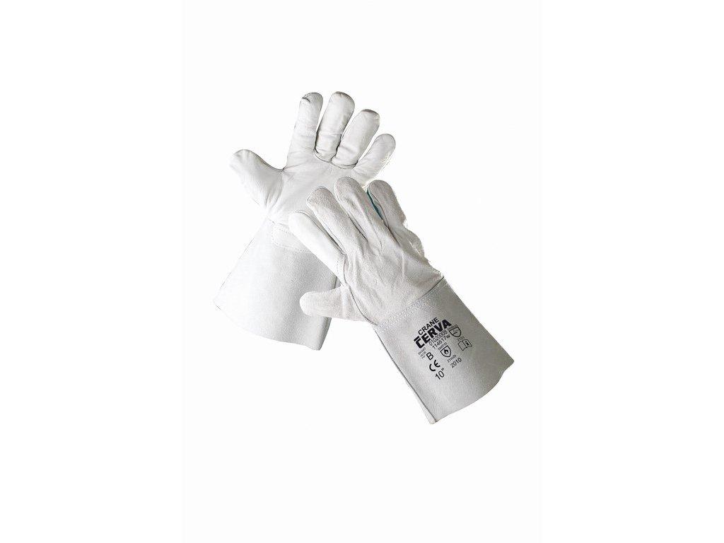 CRANE rukavice svářecí z lícové hověziny v dlani (Velikost/varianta 10)