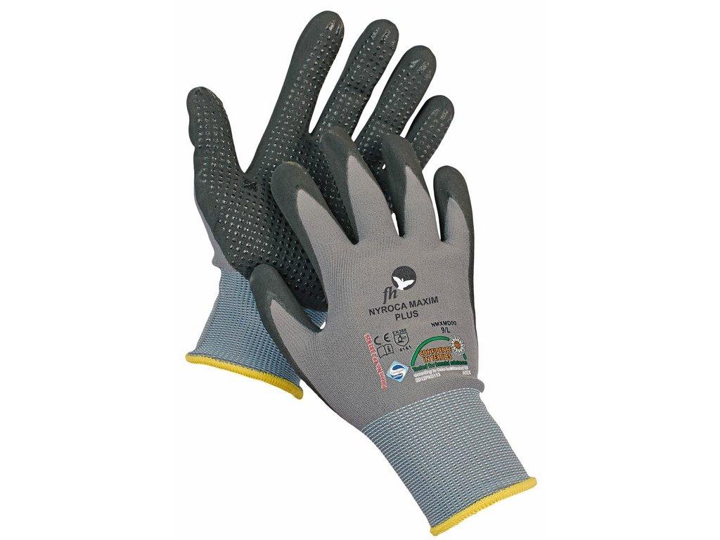 NYROCA MAXIM DOTS rukavice nylon/lycra s terčíky (Velikost/varianta 11)