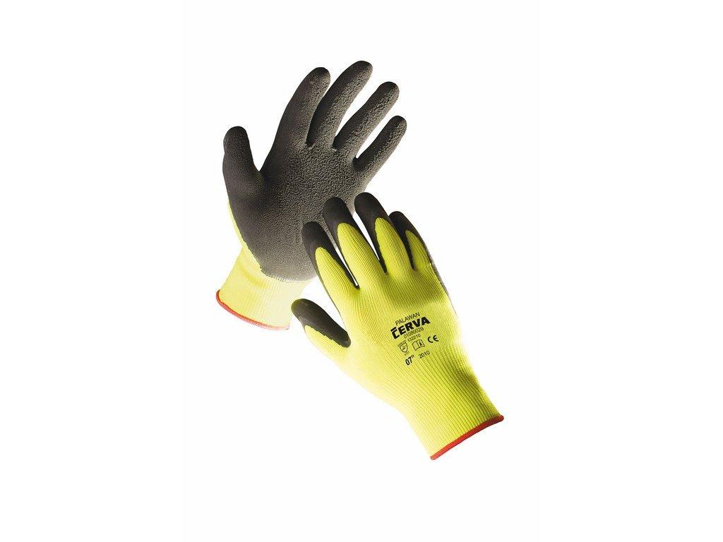 PALAWAN rukavice nylon pěnový latex žluté (Velikost/varianta 11)