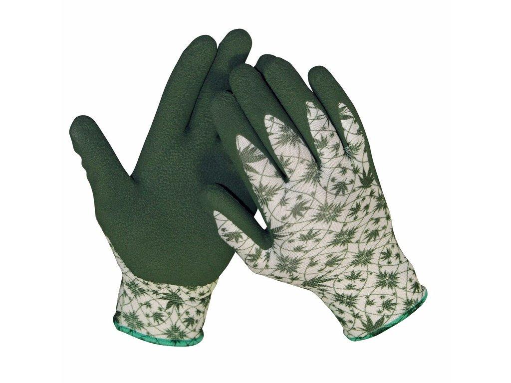 GUILLEMOT rukavice máčené v latexu zelená-bílá (Velikost/varianta 10)
