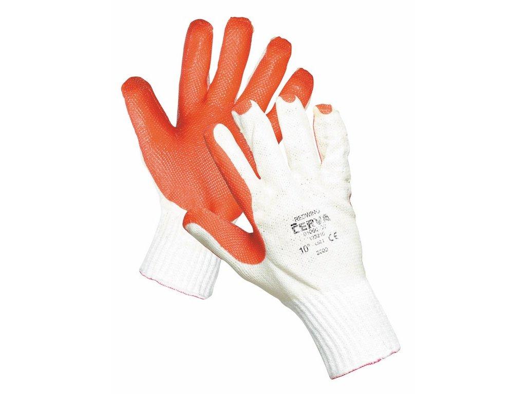 REDWING rukavice napuštěné a máčené v latexu bílá-oranžová (Velikost/varianta 11)