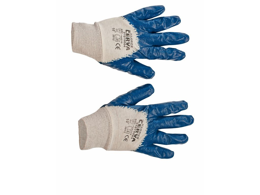 HARRIER rukavice polomáčené v nitrilu pružná manžeta (Velikost/varianta 11)