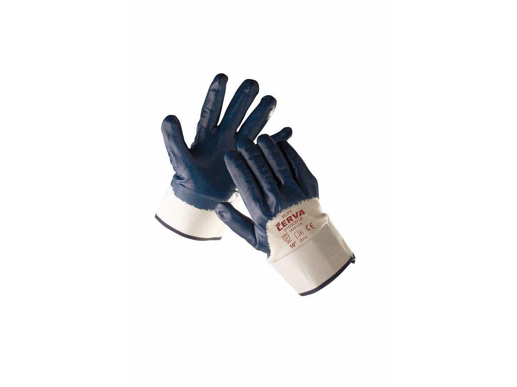 RUFF rukavice polomáčenév nitrilu pevná manžeta (Velikost/varianta 11)