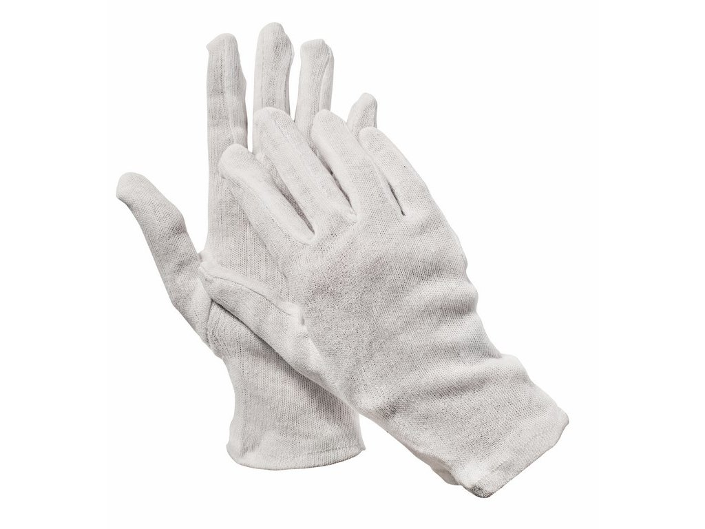 KITE rukavice z bavlny a PE střih 'fourchette' (Velikost/varianta 07)