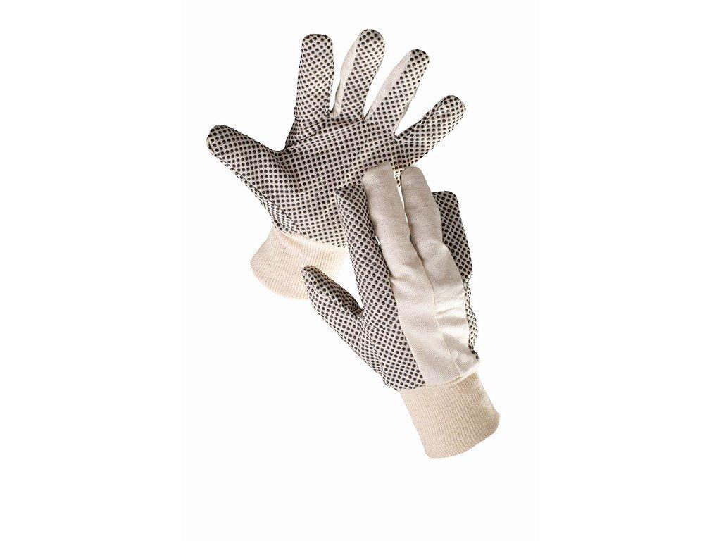 OSPREY rukavice z bavlny s PVC terčíky (Velikost/varianta 10)