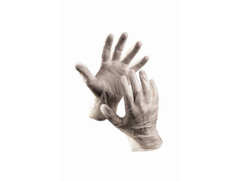 RAIL rukavice jendorázové vinylové pudrované (Velikost/varianta 10)