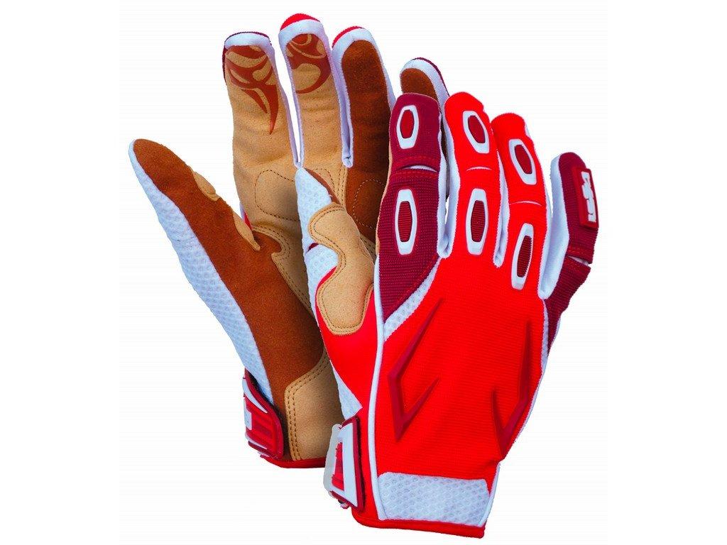 RACE rukavice s gelovou náplní v dlani červené (Velikost/varianta 11)