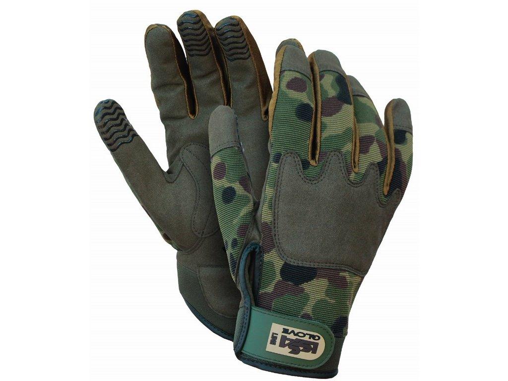 ARMY rukavice synt. kůže/nylon camuflage (Velikost/varianta 04)