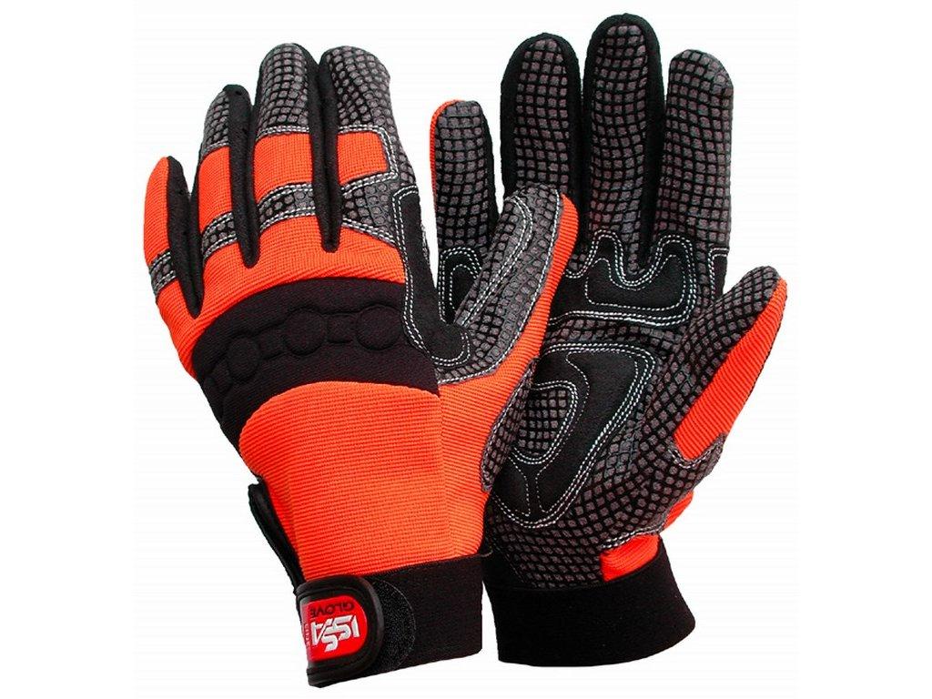 ISSA SOFT GRIP rukavice oranžové (Velikost/varianta 04)