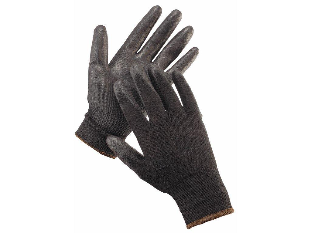 BUNTING LIGHT HS-04-003 rukavice povrstvené PU černá (Velikost/varianta 11)