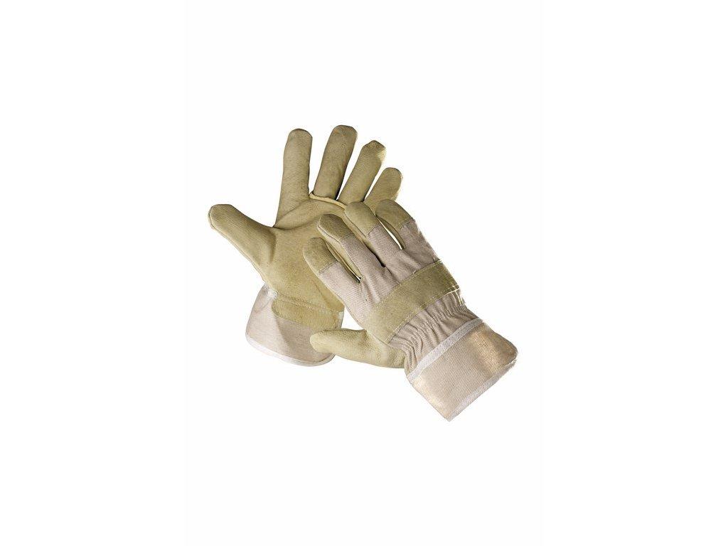 SHAG rukavice kombinované zimní bílá-žlutá (Velikost/varianta 10)